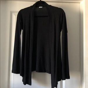 Black flare cardigan from Splendid